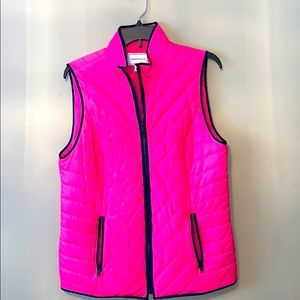 Charter Club quilted bright pink vest